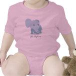 Elefante lindo adaptable del texto traje de bebé