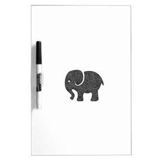 Elefante lindo alegre adorable pizarras blancas de calidad