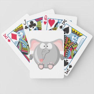 Elefante lindo barajas de cartas