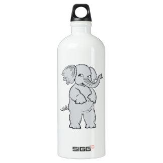 Elefante lindo botella de agua