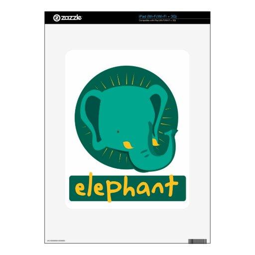 elefante lindo calcomanías para iPad