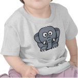 Elefante lindo camisetas