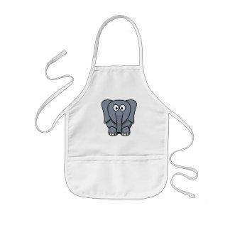 Elefante lindo Clipart del dibujo animado Delantales