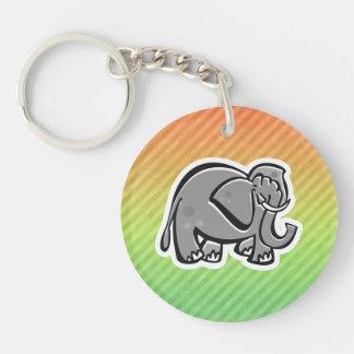 Elefante lindo; Colorido Llaveros