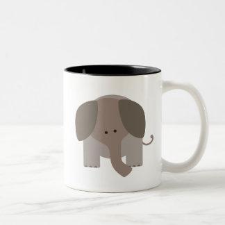 Elefante lindo de Brown Taza De Café