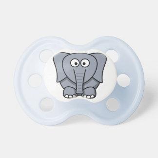 Elefante lindo de encargo del bebé chupetes para bebés