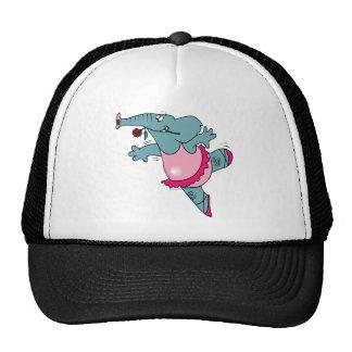 elefante lindo de la bailarina del ballet en tutú gorras de camionero