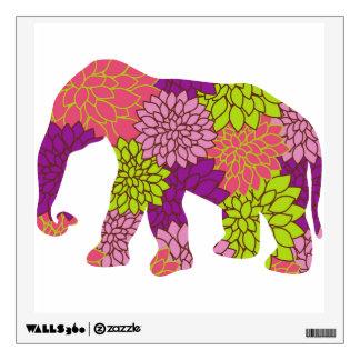 Elefante lindo de las flores coloridas