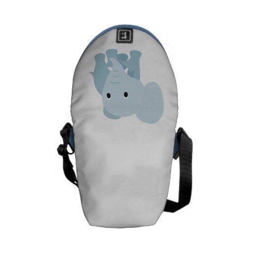 Elefante lindo del bebé bolsa de mensajería