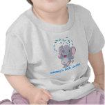 Elefante lindo del bebé con el pequeño querido de  camisetas