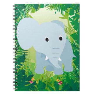 Elefante lindo del bebé cuaderno
