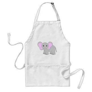 Elefante lindo del bebé delantal