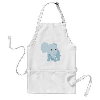 Elefante lindo del bebé delantales