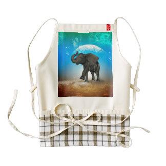 Elefante lindo del bebé delantal zazzle HEART
