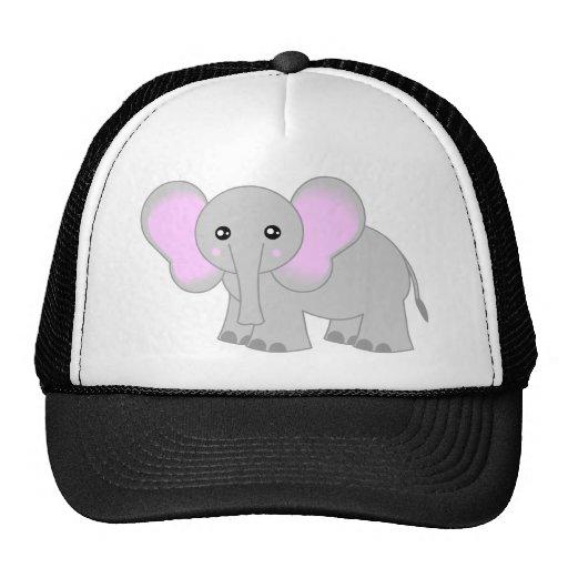 Elefante lindo del bebé gorras de camionero