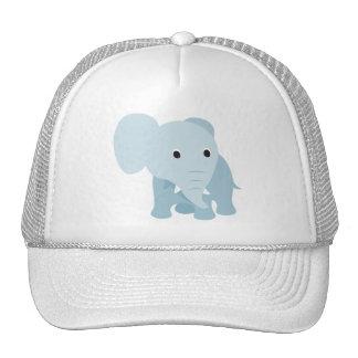 Elefante lindo del bebé gorros bordados