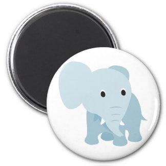 Elefante lindo del bebé imán redondo 5 cm