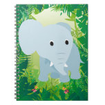 Elefante lindo del bebé libreta
