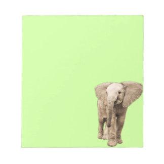 Elefante lindo del bebé libreta para notas