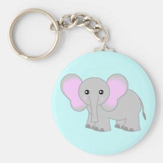 Elefante lindo del bebé llavero personalizado