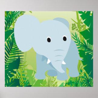 Elefante lindo del bebé impresiones