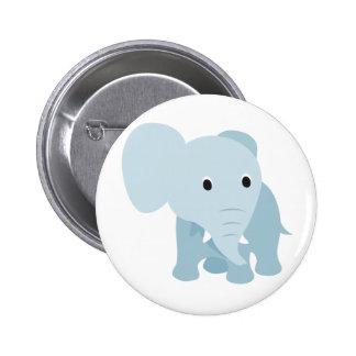 Elefante lindo del bebé pin redondo 5 cm
