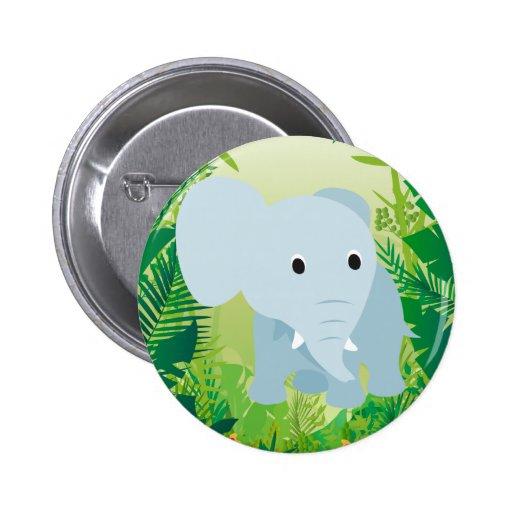 Elefante lindo del bebé pin