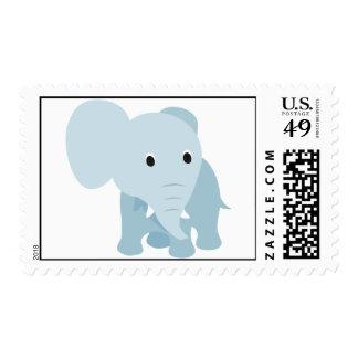 Elefante lindo del bebé franqueo