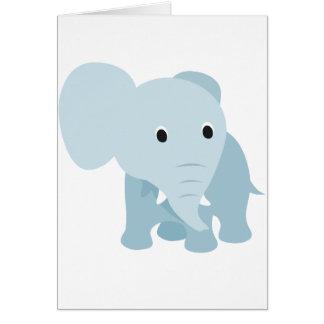 Elefante lindo del bebé tarjeta de felicitación