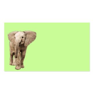 Elefante lindo del bebé tarjetas de visita