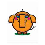 Elefante lindo del dibujo animado postal