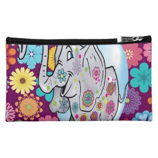Elefante lindo del Hippie con las flores coloridas