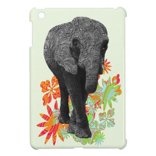Elefante lindo del Hippie iPad Mini Carcasa