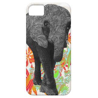 Elefante lindo del hippy iPhone 5 Case-Mate cárcasa