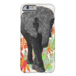 Elefante lindo del hippy funda de iPhone 6 slim
