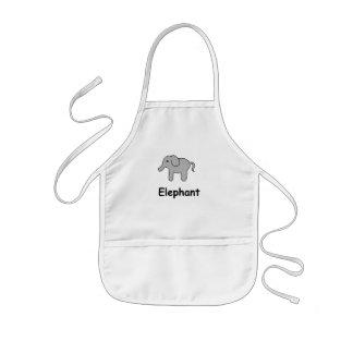 Elefante lindo delantal