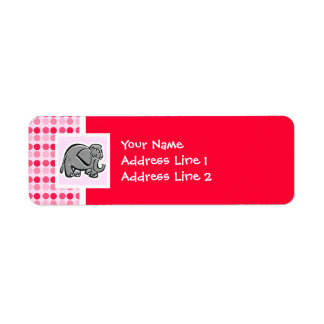 Elefante lindo etiquetas de remite