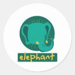 elefante lindo etiqueta