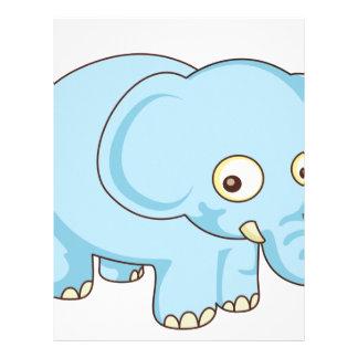 elefante lindo membrete a diseño
