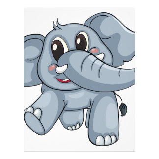 Elefante lindo membrete