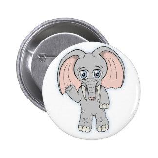 elefante lindo pin redondo 5 cm