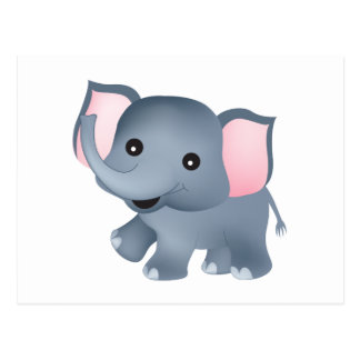 Elefante lindo postales