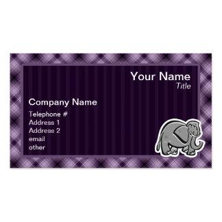 Elefante lindo; Púrpura Tarjetas De Visita