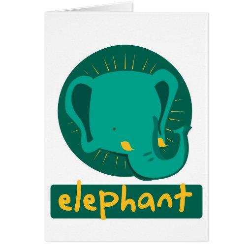 elefante lindo tarjeta de felicitación