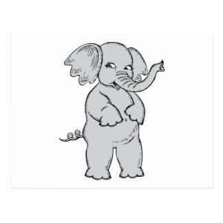 Elefante lindo tarjetas postales