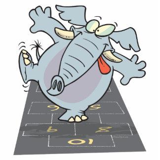 elefante lindo tonto Toon del hopscotch Esculturas Fotograficas
