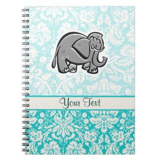 Elefante lindo; trullo libreta