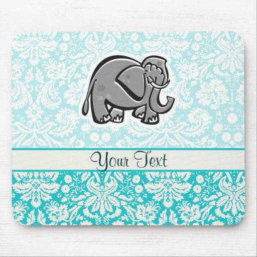 Elefante lindo; trullo tapete de ratón