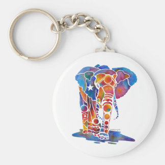 Elefante Llavero Redondo Tipo Pin