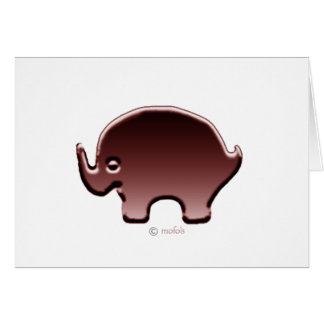 Elefante magenta card